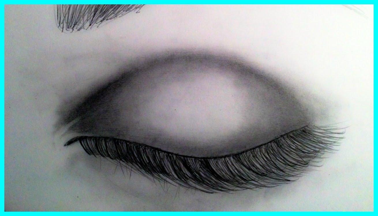 Drawn eye closed Realistic YouTube A Realistic Eye
