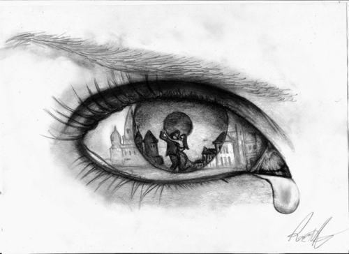 Drawn tears tear step by step Of Eyes with Tears Eyes