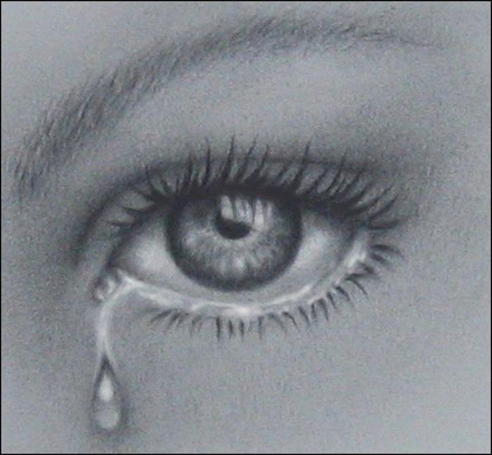 Drawn tears teary eye Ideas on EyesDrawing tear the