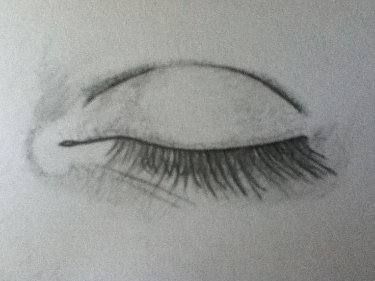 Drawn eye closed Must Eye drawings Closed Eye