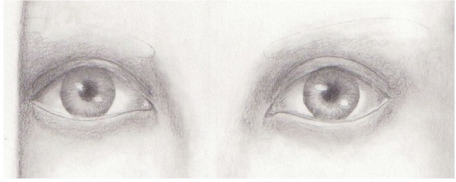 Drawn eyeball eyelid To Step Eyes How Pencil
