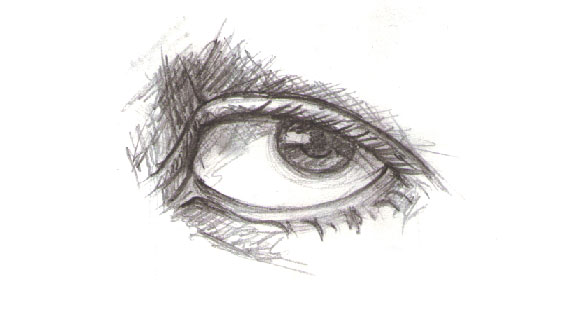 Drawn eyeball eyelid 2: vector eyes Part portraits
