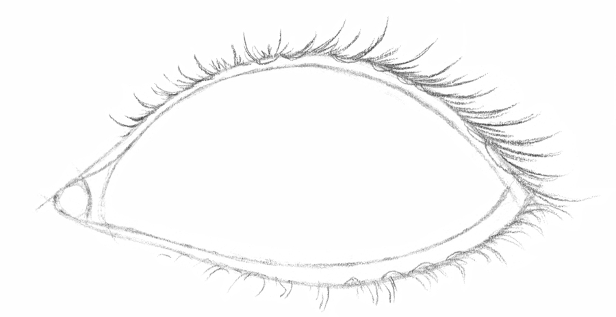 Drawn eyeball eyelid Draw 6 Realistic A7 Drawspace