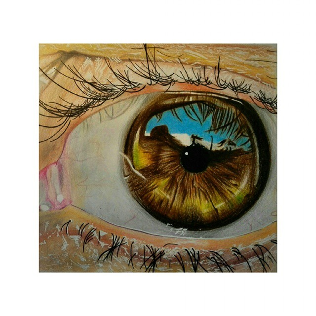 Drawn eyeball faber castell Eye #another #brown drawing Instagram