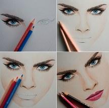 Drawn eyeball faber castell Lips cara drawings Eye #2