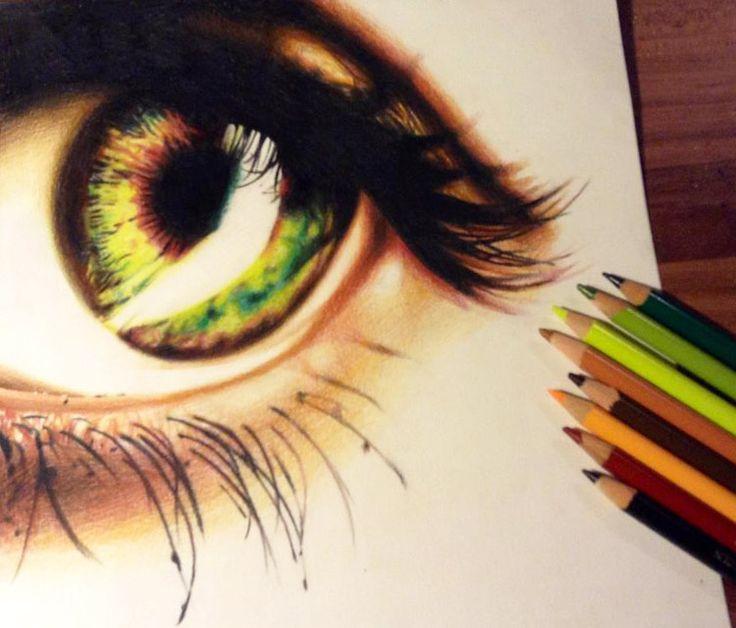 Drawn eyeball faber castell Best Radioactive Galassi eyes Pinterest