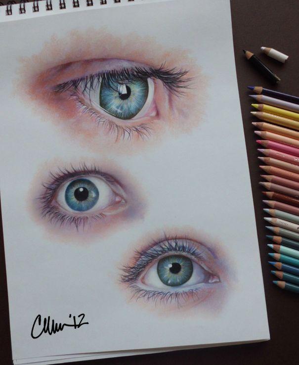 Drawn eyeball faber castell On miss (Eyes on doing