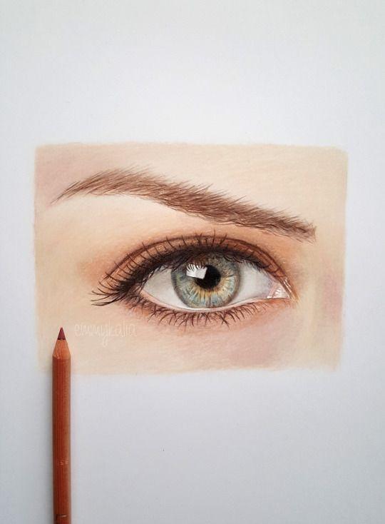 Drawn eyeball faber castell On Caran How eye d'ache