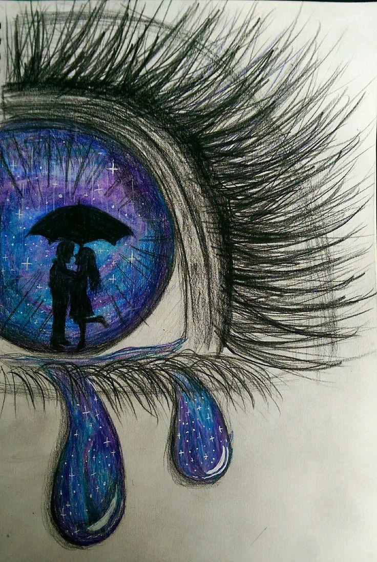Drawn eyeball faber castell 25+ Crying castell best Pinterest