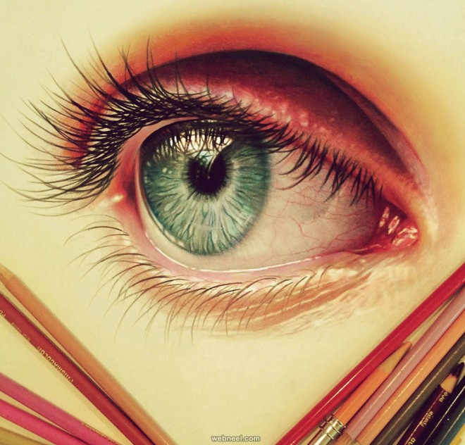Drawn eyeball famous Drawing pencil drawing of color