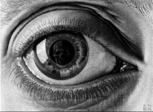 Drawn eyeball famous – 1946 Mezzotint C Image