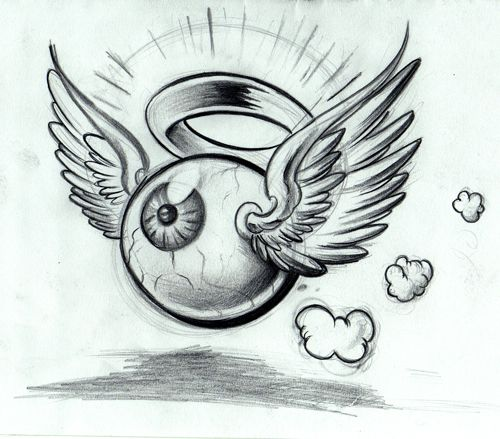 Drawn eyeball flying eyeball 81 Eyeball on about Eyeball