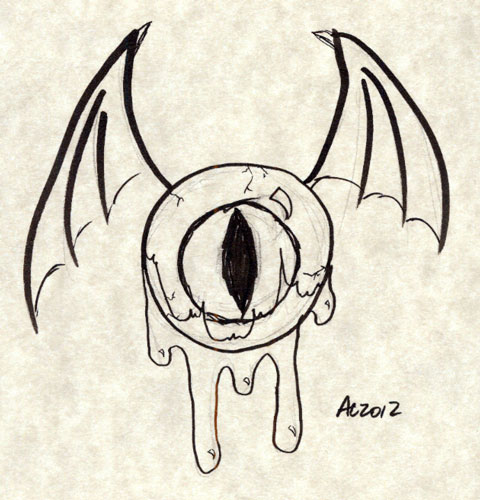 Drawn eyeball flying eyeball By sketch Arts Flying Custom