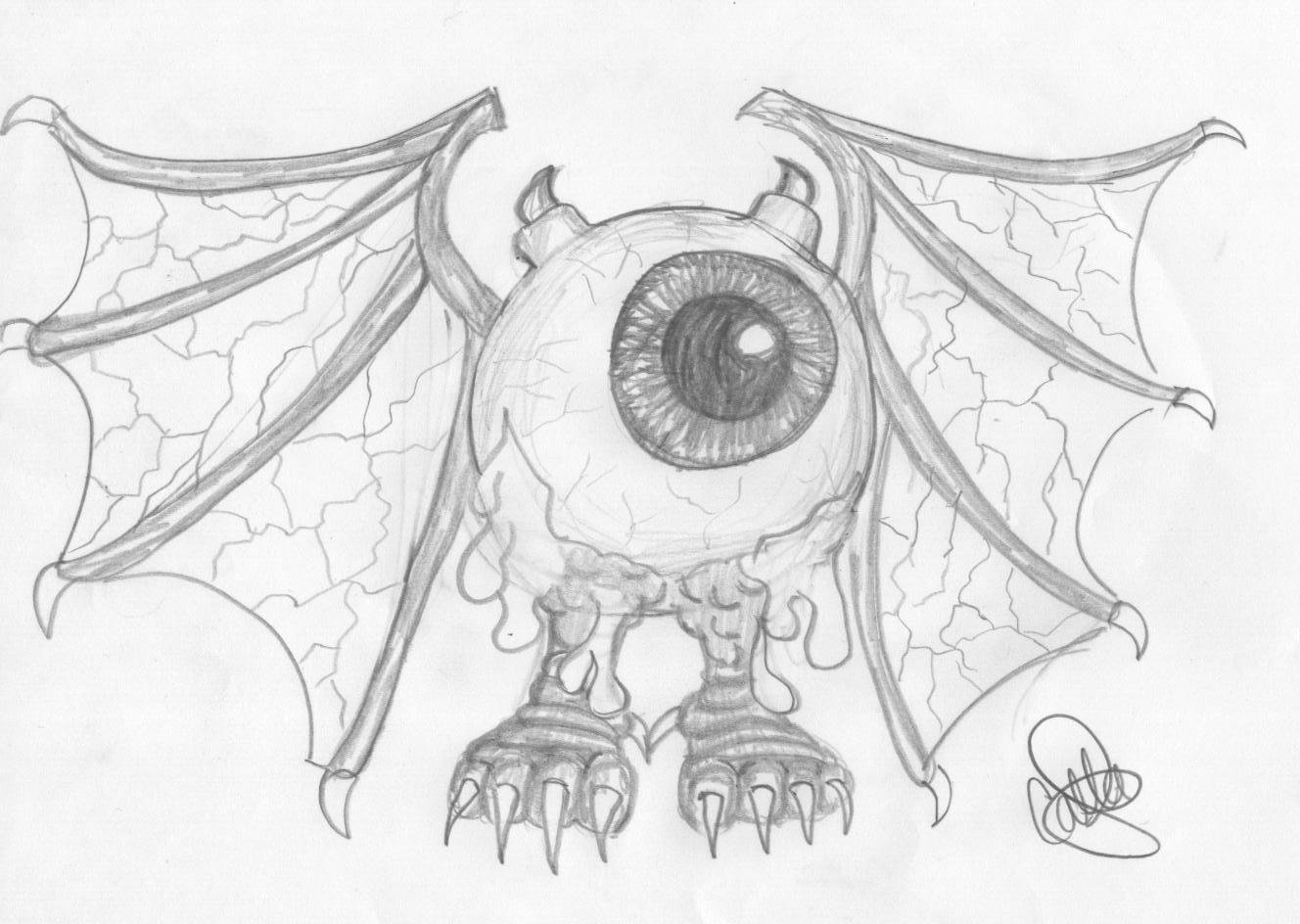 Drawn eyeball flying eyeball CrazyScorpio on by Eyeball Eyeball
