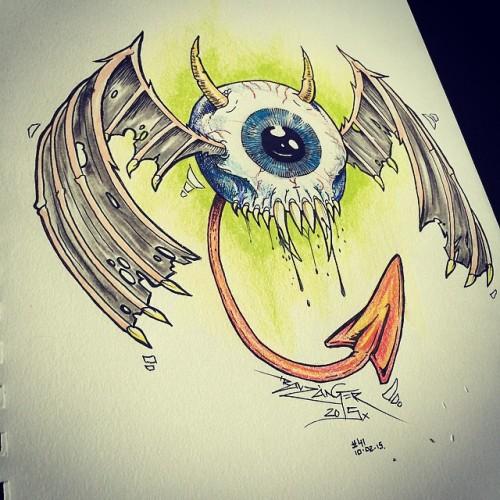 Drawn eyeball flying eyeball #41 eyeball by a today's