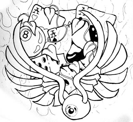 Drawn eyeball flying eyeball CGgraphics on by Eyeball Eyeball