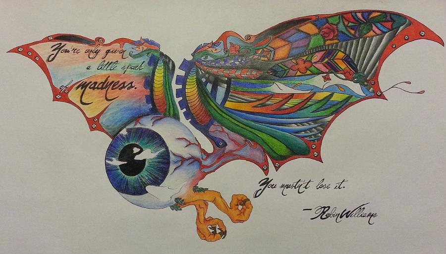 Drawn eyeball flying eyeball Eyeball Eyeball Melissa Sink Drawing