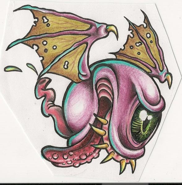 Drawn eyeball flying eyeball Tattoo Album: Forum eyeball Community