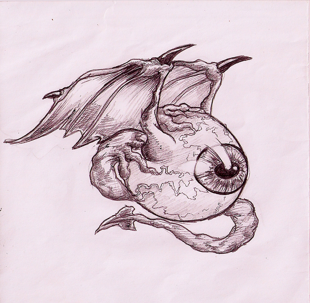 Drawn eyeball flying eyeball RealFreedom Redbubble by eyeball eyeball