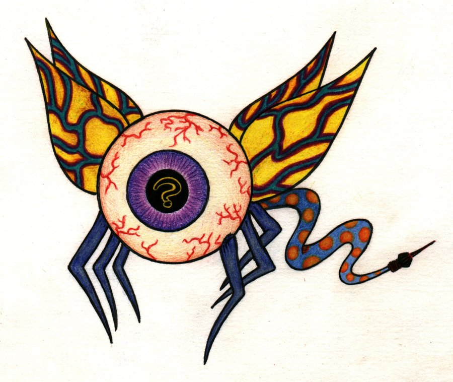 Drawn eyeball flying eyeball Misterwackydoodle on by Eyeball Eyeball