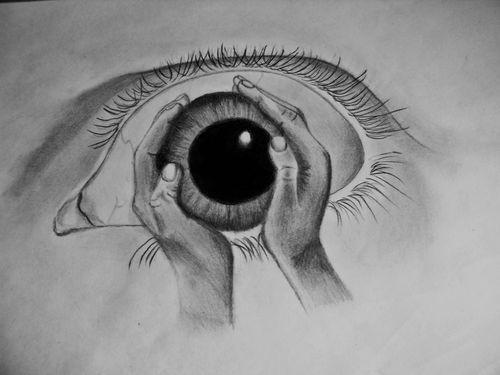 Drawn eyeball hand *You you Pinterest hands 20+