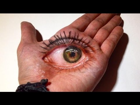 Drawn eyeball hand 3D Drawing Eye 3D YouTube