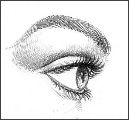 Drawn profile eye How to on Draw about