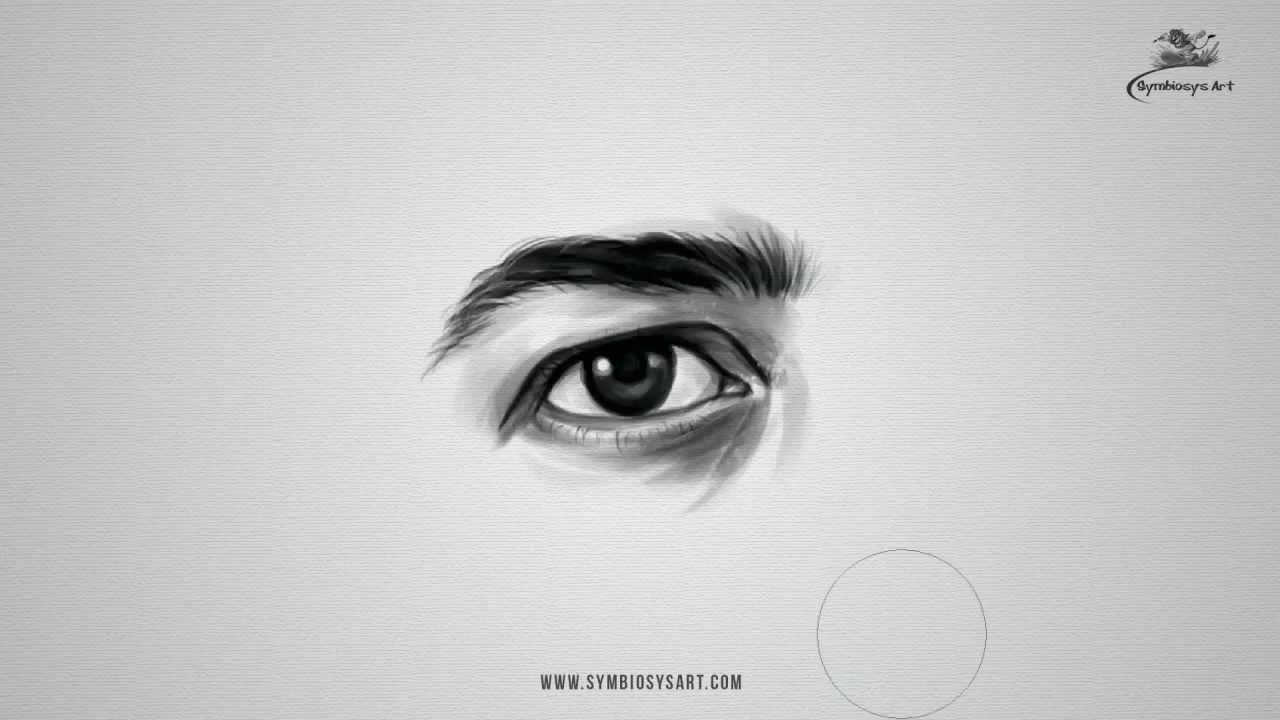 Drawn photos male eye To How Realistic Eye YouTube