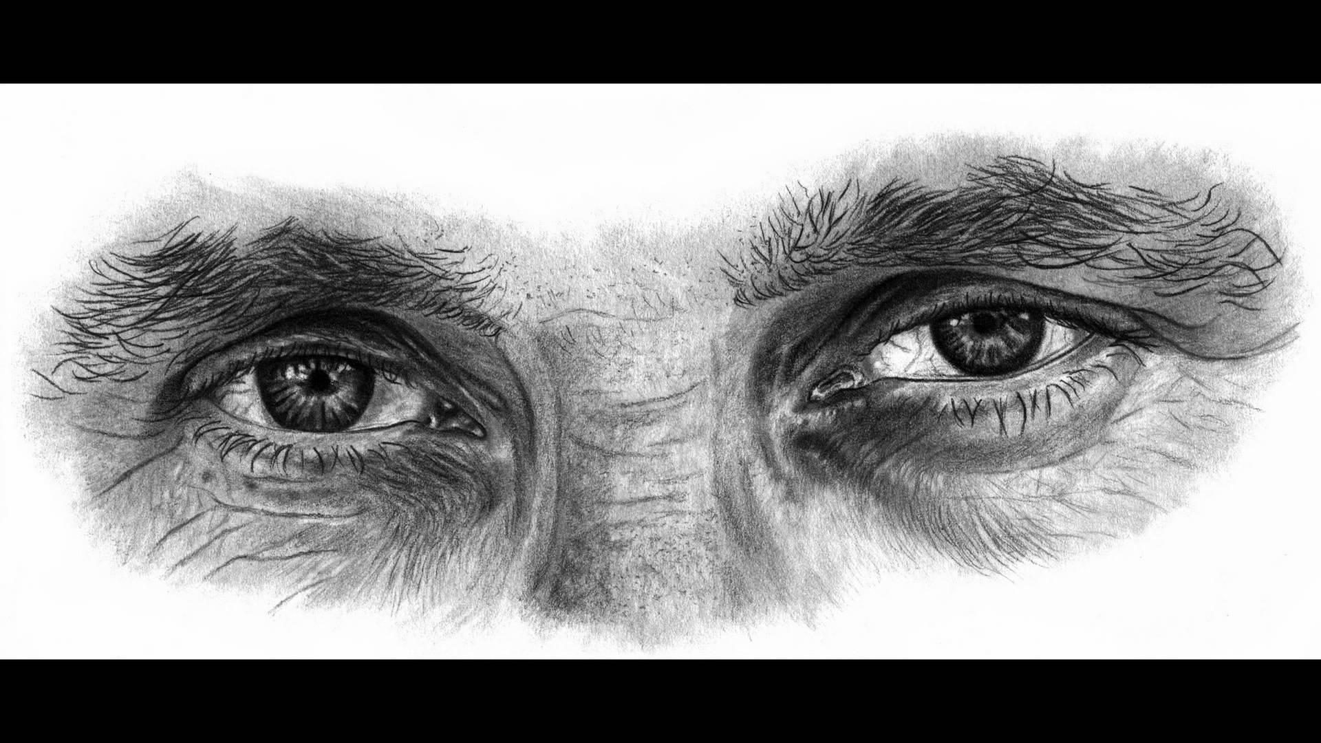 Drawn eyeball man Drawing How YouTube  Draw