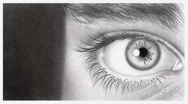 Drawn eyeball man Of Lessons of Eyes drawings