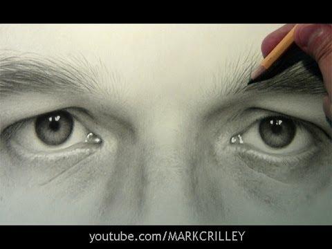 Drawn eyeball man Portrait: Lapse] Portrait: Eyes Self