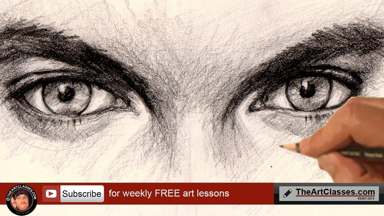 Drawn eyeball man How  draw YouTube to