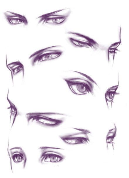 Drawn eyeball man To Anime Picture #Drawing