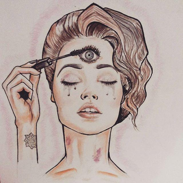 Drawn eyeball man Eye Pinterest up tattoos Open