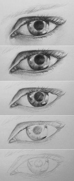 Drawn eyeball man De la personajes ya muestra