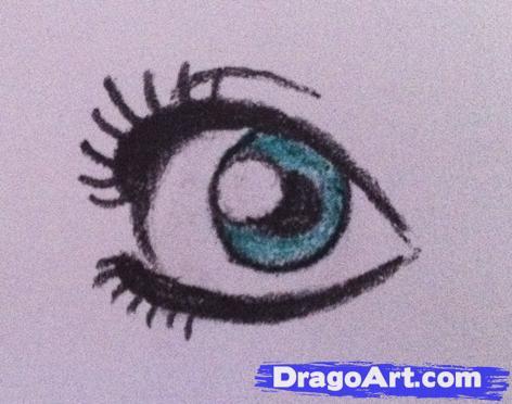Drawn eyeball most realistic eye Eyes by Anime  How