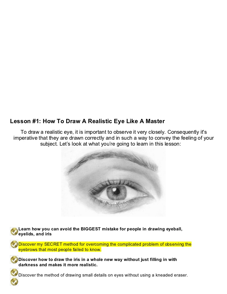 Drawn eyeball most realistic eye To Eye nose people draw