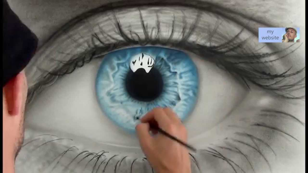 Drawn eyeball most realistic eye Speed How painting eye to