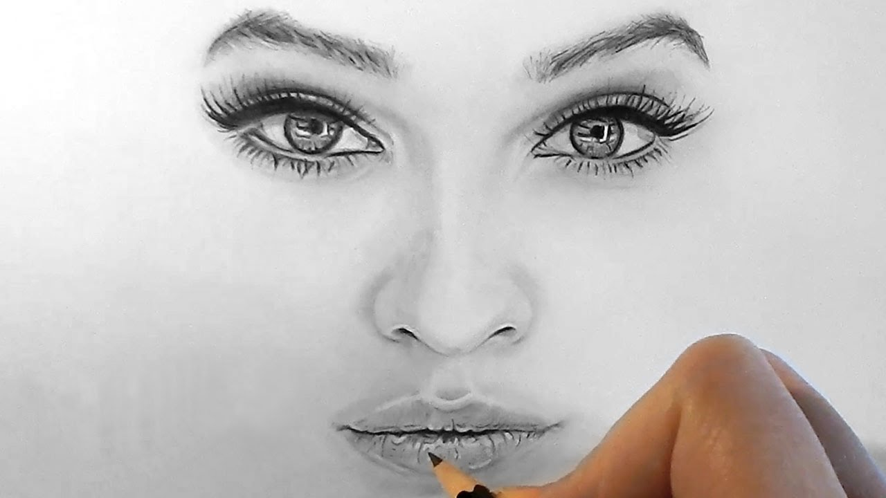 Drawn amd nose Timelapse Kalia Drawing realistic lips