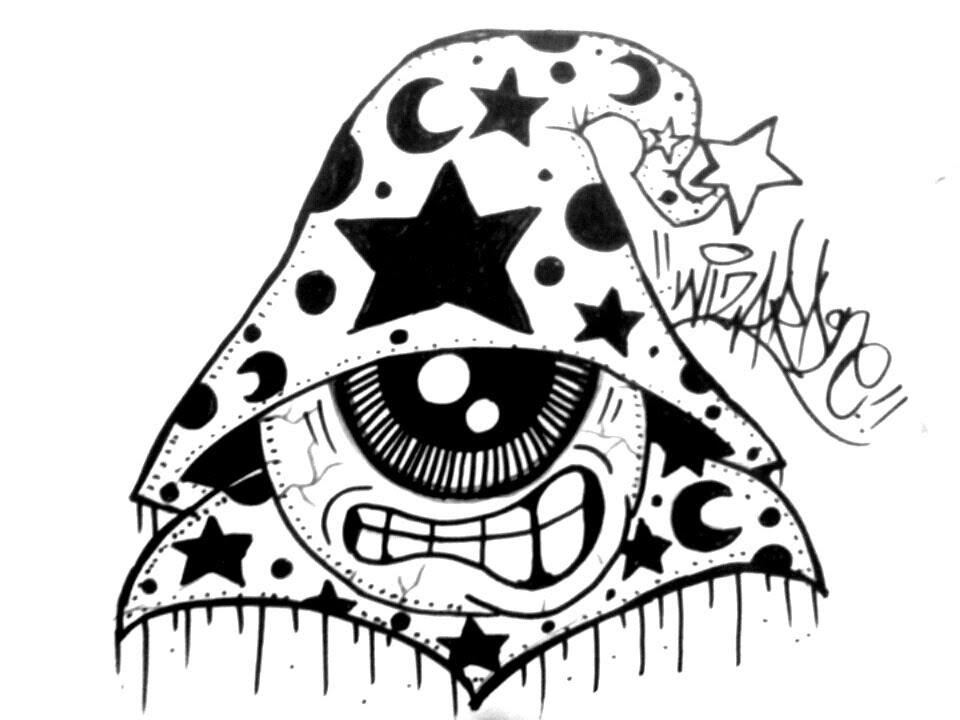 Drawn eyeball one eye Draw un one con Wizard
