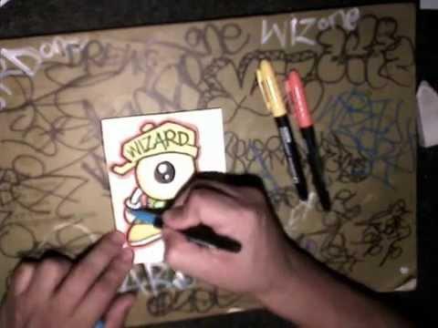 Drawn eyeball one eye Character) graffiti graffiti sticker to