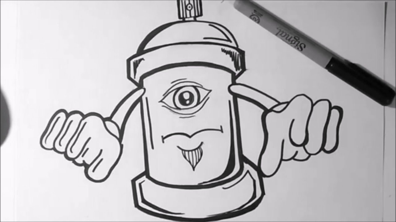 Drawn eyeball one eye Can character character One to