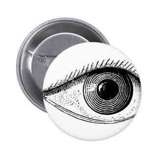 Drawn eyeball one eye Anatomy Pinback Zazzle Vintage Gifts