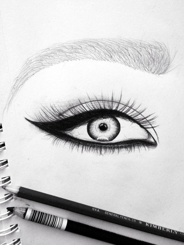 Drawn contrast perfect eye Amazing Draw And Examples How