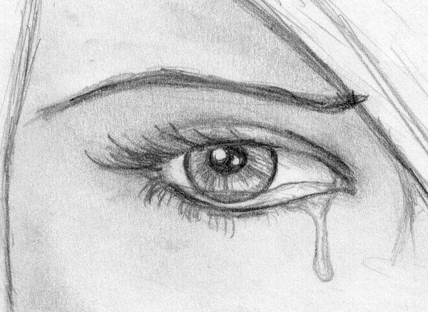 Drawn sad sad eye De pues debe on best