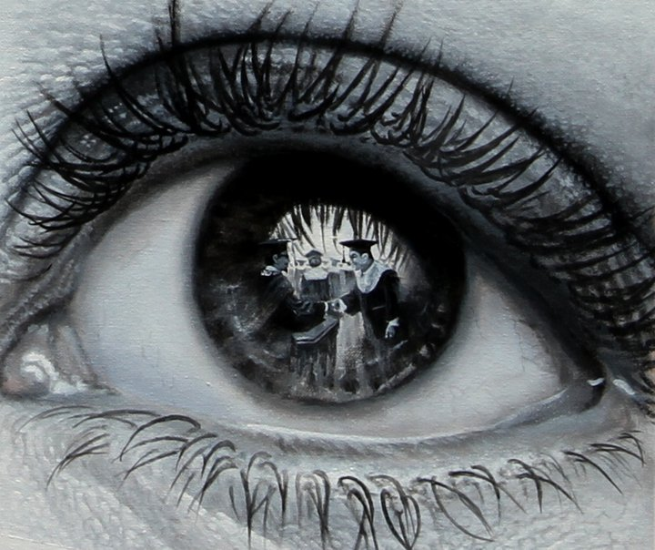 Drawn eyeball photorealistic Their Surroundings Paintings  of