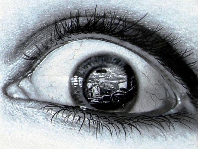 Drawn eyeball photorealistic Lugares Pencil Drawing Pencil Realistic