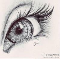 Drawn eyeball photorealistic Com under duitang Tutorial on