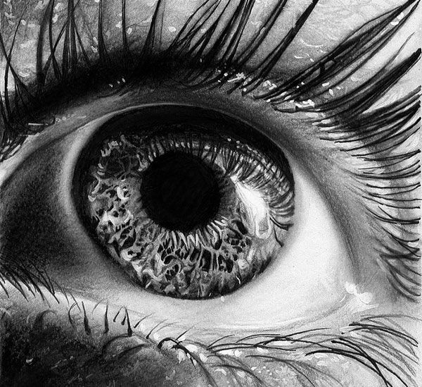 Drawn eyeball photorealistic Hyper 14 best eye hyper
