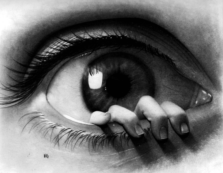 Drawn eyeball pretty eye Drawing Magazine fingers Incredible Artists